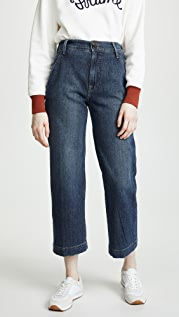 FRAME Wide Leg Cropped Jeans