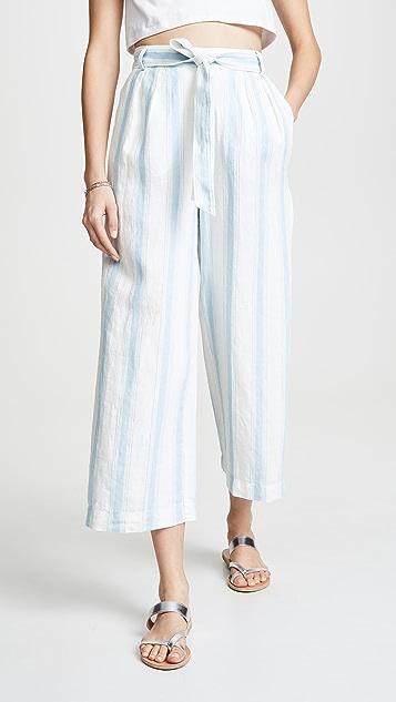 FRAME 高腰条纹简洁裤
