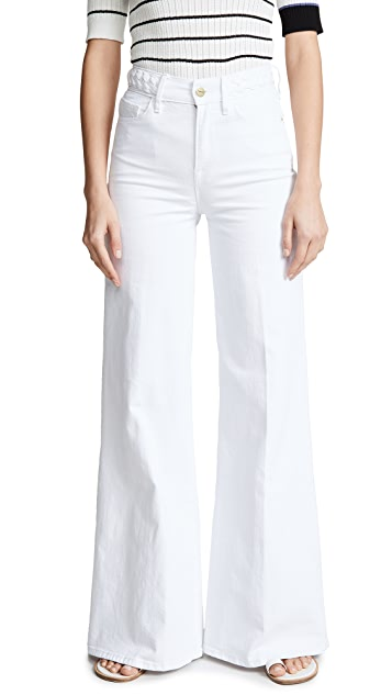 FRAME Le Palazzo Braided Waistband Jeans