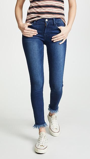5ece64e956abc FRAME Le Skinny De Jeanne Crop Jeans ...