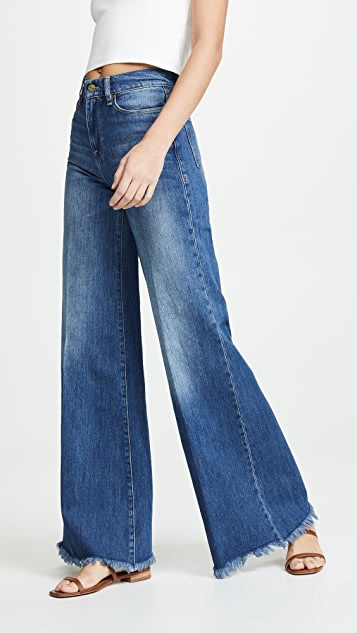 Frame Jeans Le Palazzo Raw Edge Jeans