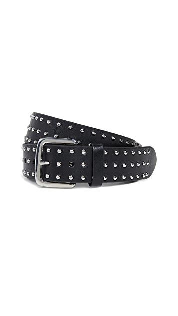 FRAME Studded Leather Belt