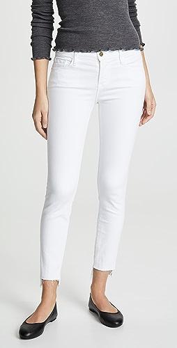 FRAME - Le Skinny De Jeanne Stagger Hem Jeans