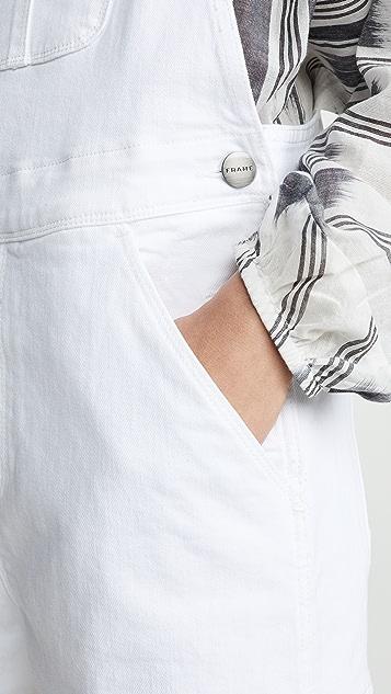 FRAME Le Garcon Overall Shorts
