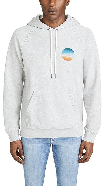 FRAME Sunset Print Hooded Sweatshirt