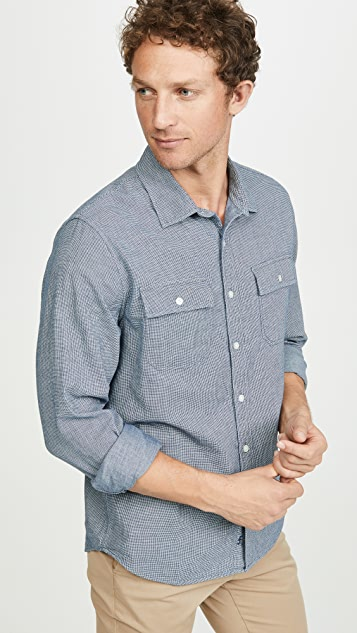 FRAME Long Sleeve Flap Pocket Shirt