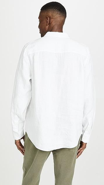 FRAME Linen Popover Shirt