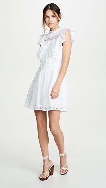 FRAME Lace Pintuck Dress