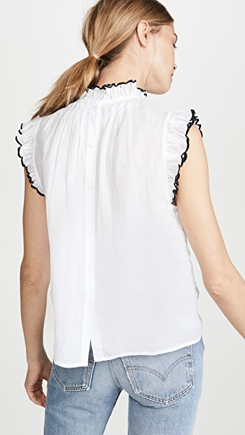 FRAME Tipped Sleeveless Top