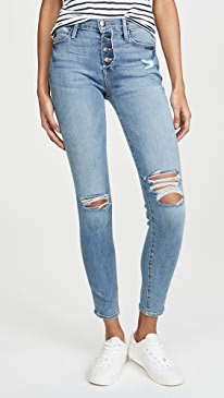 Le High Skinny Button Fly Jeans