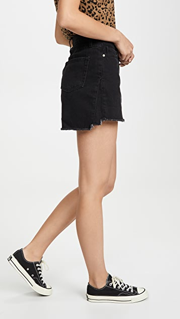 FRAME Le Mini Skirt Triangle Side Gusset