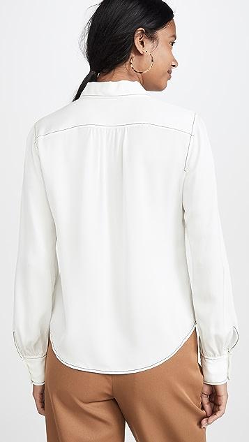 FRAME 70's Contrast Stitch Shirt