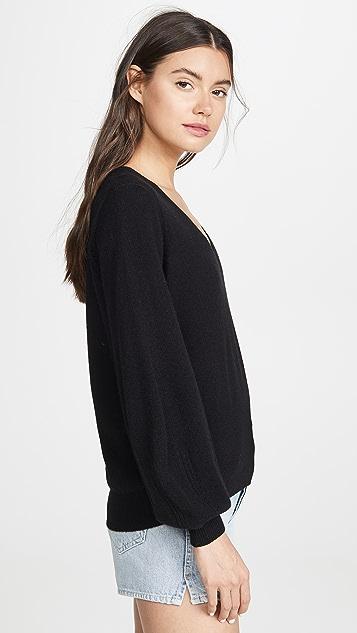 FRAME 花式网眼织物开司米羊绒毛衣