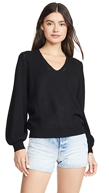 FRAME Pointelle Cashmere Sweater