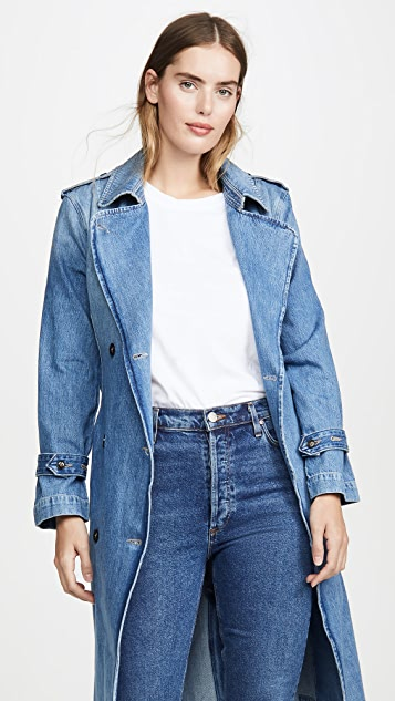 FRAME Double Breasted Trench