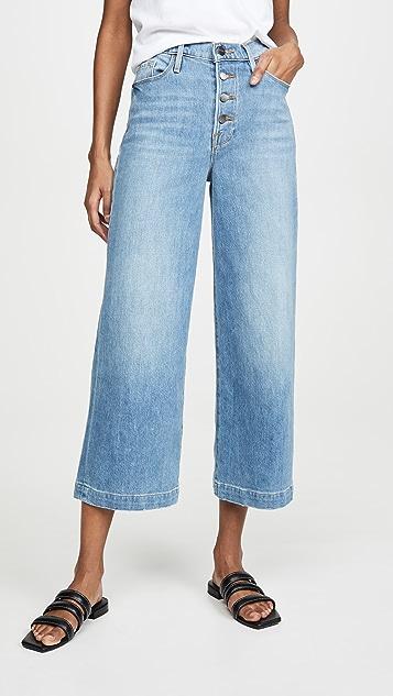 FRAME Широкие укороченные джинсы Ali