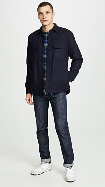 FRAME Long Sleeve Double Pocket Shirt