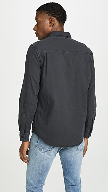 FRAME Long Sleeve Slouchy Double Pocket Shirt
