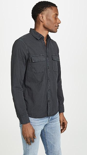 FRAME Long Sleeve Slouchy Double Pocket Shirt