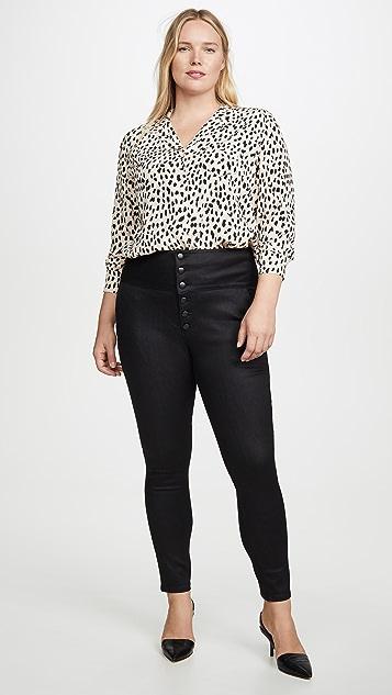 FRAME Tux Noir Band Skinny Jeans