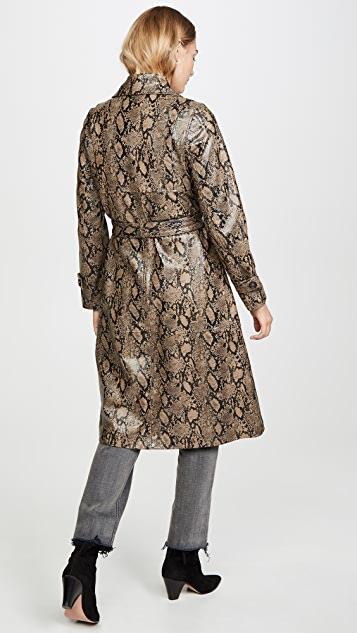 FRAME Embossed Python Trench