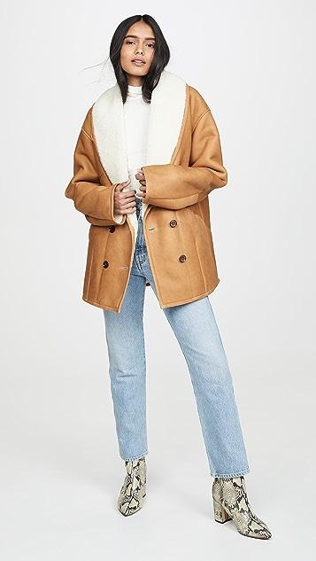 FRAME Пальто-кокон из короткой шерсти