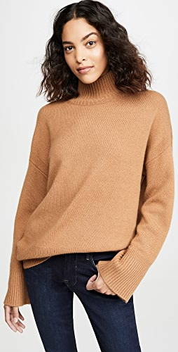 FRAME - High-Low Cashmere Mock Neck Sweater