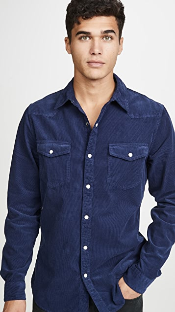 FRAME Long Sleeve Western Shirt
