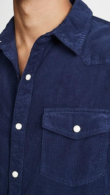 FRAME Long Sleeve Western Shirt