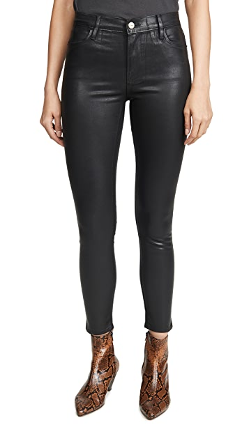 FRAME Le High Skinny Coated Jeans
