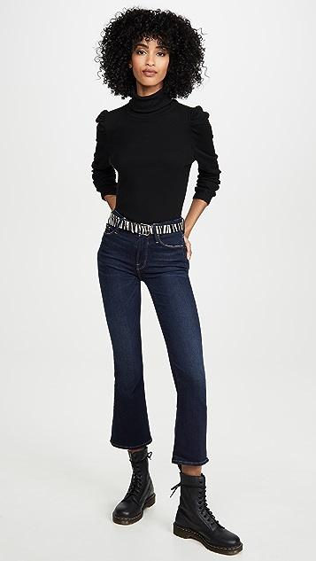 FRAME Короткие буткат-джинсы