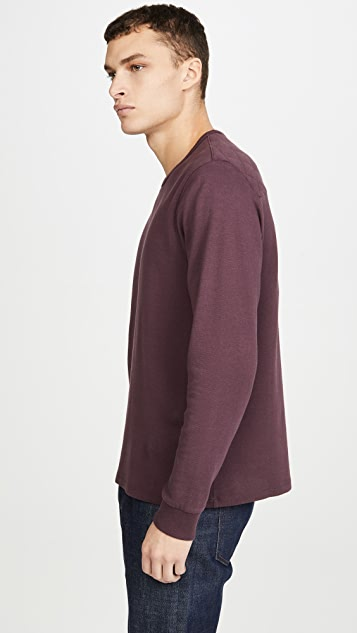 FRAME Quilted Long Sleeve T-Shirt