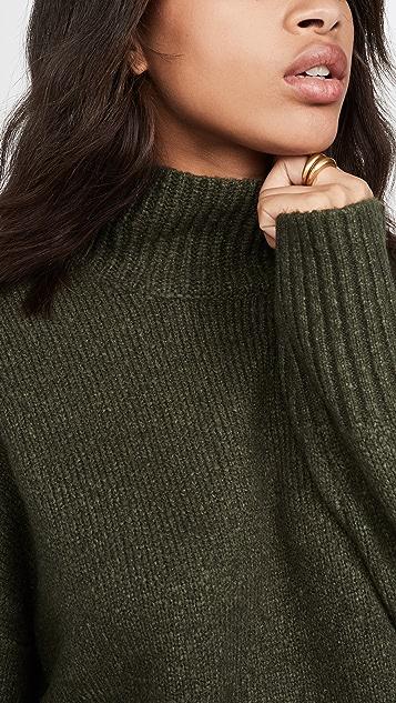 FRAME 侧开衩半高领毛衣