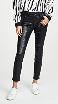 Le High Skinny Croc Jeans