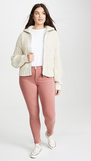 FRAME Атласные джинсы-скинни Le с высокой посадкой