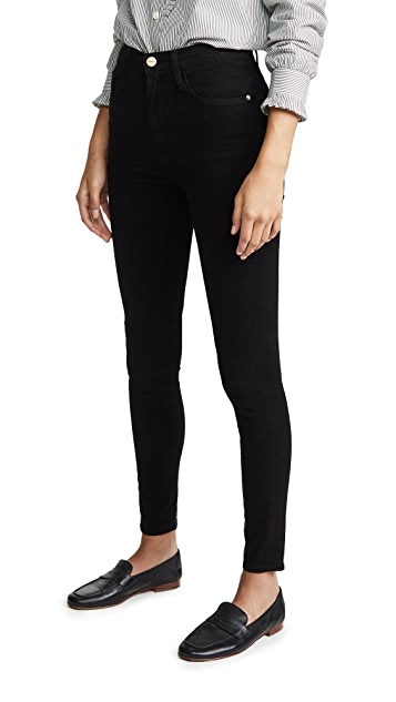 FRAME Ali High Rise Sateen Jeans