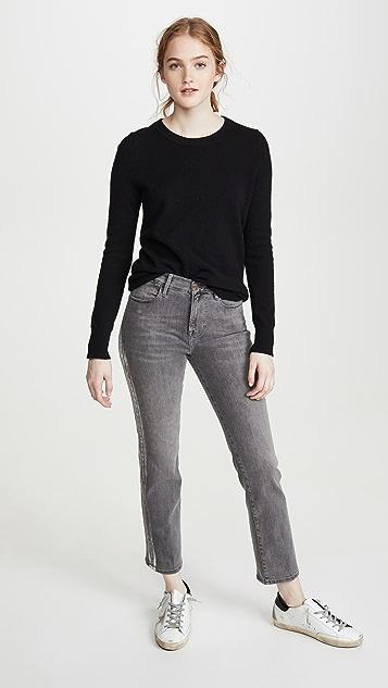 FRAME Le High 直脚锡箔礼服式牛仔裤