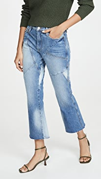 Le Sylvie Kick Boot Mix Jeans