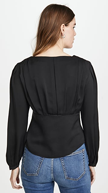 FRAME Empire Pleat Top
