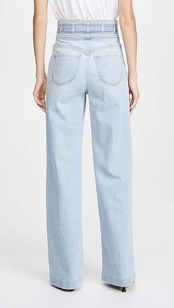FRAME Широкие джинсы Ali с тремя завязками на талии