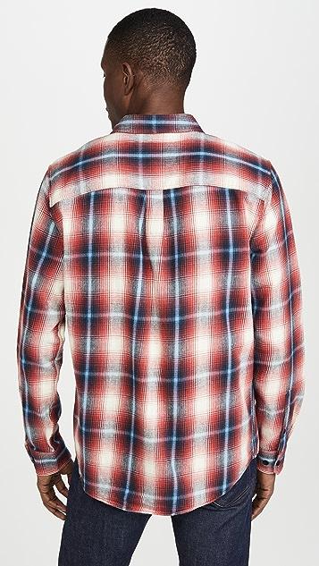 FRAME Plaid Double Pocket Button Down Shirt