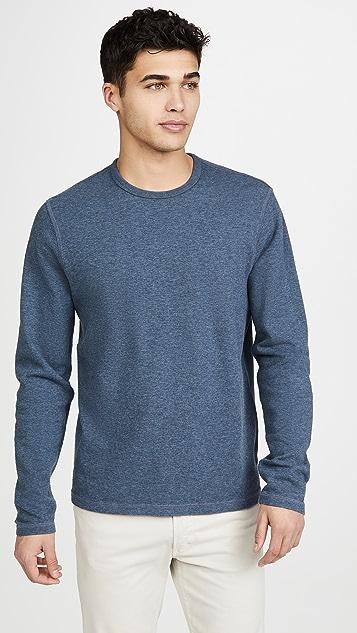 FRAME Reversible Duo Fold Crew Neck Sweatshirt
