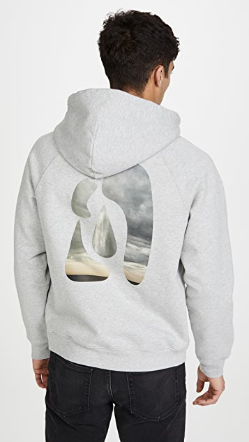 FRAME Abstract Sunset Pullover Hoodie