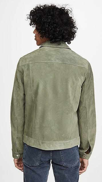 FRAME Modern Suede Trucker Jacket