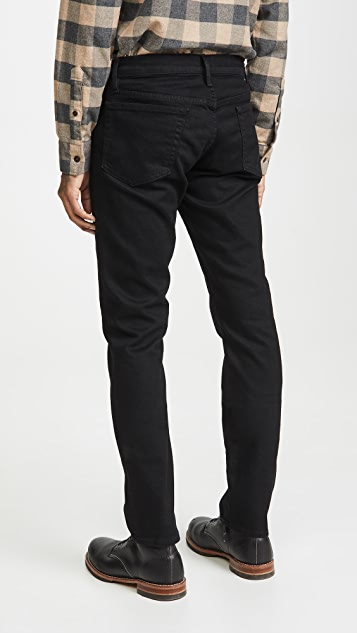 FRAME L'Homme Slim Denim Jeans in Noir Wash