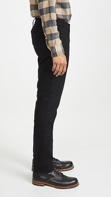 FRAME L'Homme Slim Denim Jeans in Noir Wash