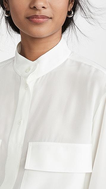 FRAME Silk Clean Safari Shirt