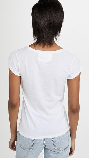FRAME Le 汤匙领中腰 T 恤