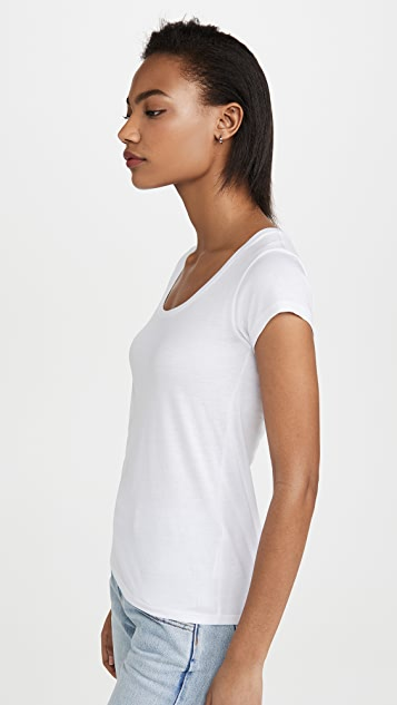 FRAME Le Scoop Mid Rise Tee