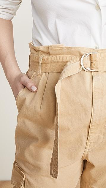 FRAME 狩猎风格配腰带裤子